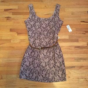 NWT Women's D'Closet Dress Floral Print Belt Sz S